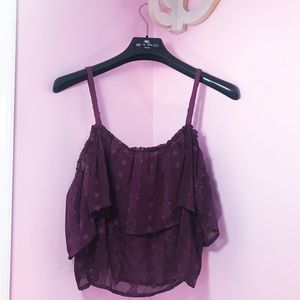 Forever 21 Shirt | Flowy Purple Festival Crop Top